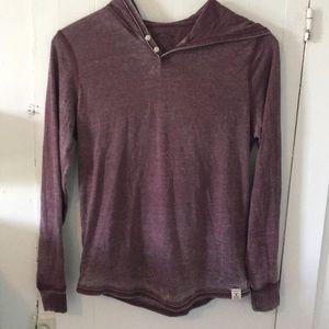 Distressed purple hoodie